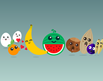 Banana&Friends  -  Food Stickers