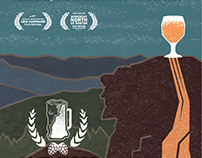 Brew Hampshire: movie poster and package design
