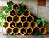 "Wine rack ""Honeycomb"""