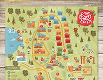 Camp Boggy Creek Map Design