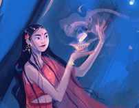 The prayer-indian girl