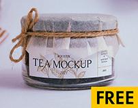 Free tea mockup