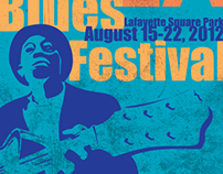 Blues Fest Poster: Typography, Illustration