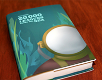 20,000 Leagues Book Cover Dust Jacket: Illustrated
