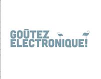 """""""Les goûtez électronique"""" - Mise en valeur de l'espace."""
