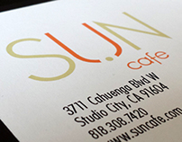 Sun Cafe: Typography, Web Design, Branding