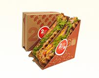 2 Go Sandwich Packaging
