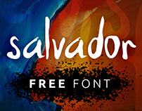 "FREE FONT ""Salvador Hand v1"" Handwriting Font"