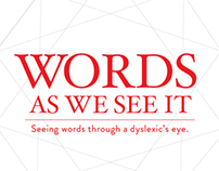 WORDS AS WE SEE IT: ABOUT THE PROJECT