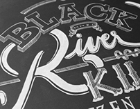 Black River Killer - Lettering