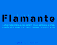 Flamante Stencil Fonts