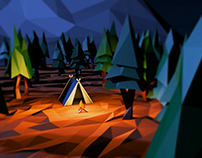 Camping in the forest