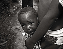 Babies bay siting babies in Africa