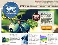 Happy Hollow Blueberries Web Design