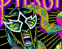 Puscifer Gig Poster: Blacklight Screen Print