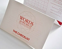 WORDS AS WE SEE IT: CHECKLIST
