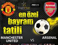Manchester United - Arsenal Maçı Tatil Afişi