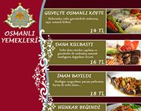 Osmanlı yemekleri - Menü Çalışması