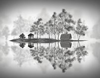 A Lonely Inhabited Island - Digital Art