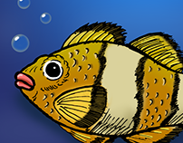 fish digital painting