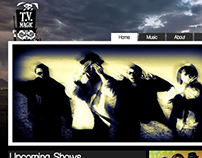 Local Band Website Mockup