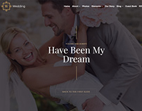 Effect Slider Banner - Wedding WordPress Theme