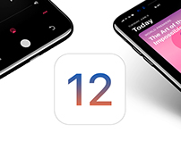 NEW IOS 12 Concept - Displayed on iphone 8