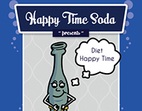 Happy Time Soda bottle label- CoupSmart