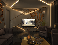 3D Visualization of an Arabian Themed Living Room