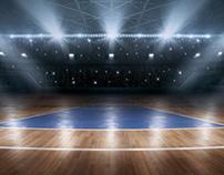 3D Gymnasium Court