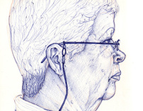 Portraits of my family in profile