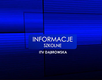 """Oprawa graficzna dla """"Informacji Szkolnych"""" ITV"""