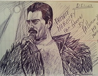 Freddie Mercury lead singer for Queen by Pallominy USA