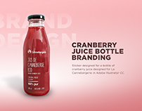 Cranberry Juice Bottle Branding