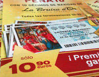 Campaign for the sale of Christmas lottery Bruixa d'Or