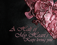 A half of my heart, vinyl cover design, 2010/11.
