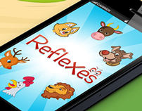 """iReflexes"" iPhone Game UI Design"
