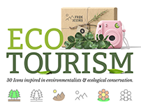 Free Eco-Tourism Vector Icons