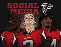 Atlanta Falcons Social Media Graphics 2016-17