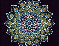 Blue Mandala Rangoli Design