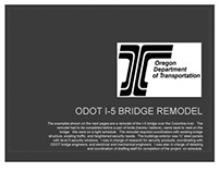 Example of ODOT project