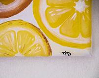 Lemons.Acrylic Painting