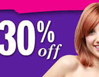30% off Clothing Sale Sign