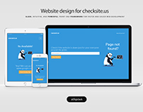 Website Frontend Design - checksite.us
