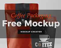 Free Mockup - Coffee Packaging
