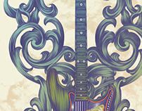 Purple Haze Guitar Art