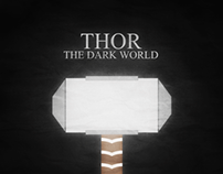 Minimalist Poster - Thor 2 (The Dark World)
