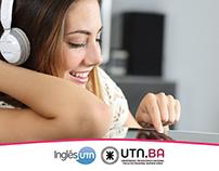 Inglés UTN - English Courses Poster & Newsletter