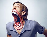 Big mouth - Retouching