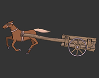 Horse and Cart 2D animation